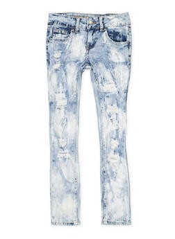 Girls 7-16 VIP Destruction Skinny Jeans - 3629065300103