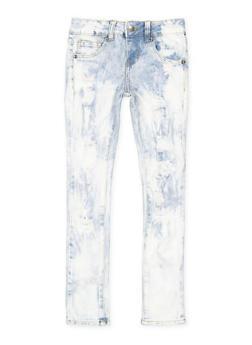 Girls 7-16 VIP Cloud Wash Distressed Jeans - 3629065300104