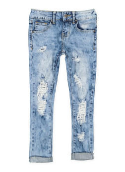 Girls 7-16 VIP Distressed Skinny Jeans - 3629065300105