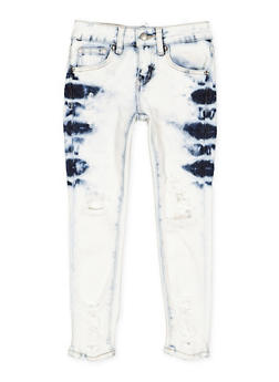 Girls 7-16 VIP Light Wash Distressed Jeans - 3629065300109