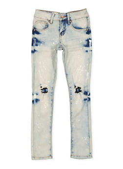 Girls 7-16 VIP Paint Splatter Jeans - 3629065300111