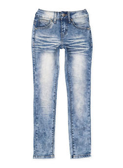 Girls 7-16 VIP Whisker Wash Jeans - 3629065300112