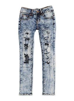 Girls 7-16 VIP Patch and Repair Jeans - 3629065300113