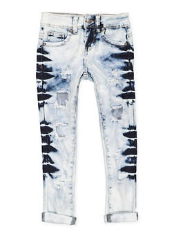 Girls 7-16 VIP Acid Wash Ripped Jeans - 3629065300115