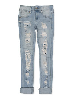 Girls 7-16 VIP Destruction Skinny Jeans - 3629065300121