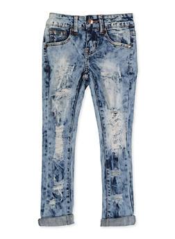 Girls 7-16 VIP Frayed Skinny Jeans - 3629065300123
