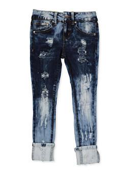 Girls 7-16 VIP Distressed Rip and Repair Jeans - 3629065300127