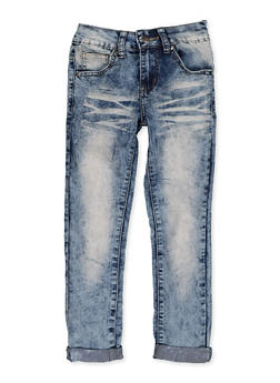 Girls 7-16 VIP Whiskered Roll Cuff Jeans - 3629065300135