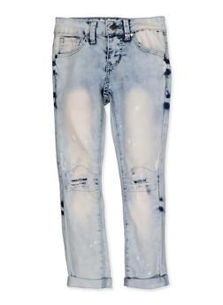 Girls 7-16 VIP Rip and Repair Roll Cuff Jeans - 3629065300136