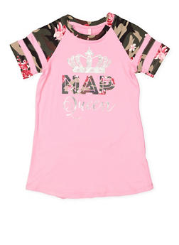 Girls 7-16 Camo Graphic Nightgown - 3630060580003
