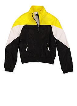 Girls 7-16 Zip Up Color Block Windbreaker Jacket - 3631051060001