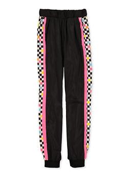 Girls 7-16 Checkered Color Block Windbreaker Joggers - 3631051060010