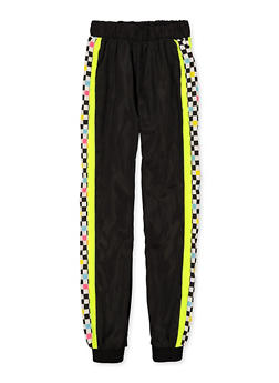Girls 7-16 Checkered Color Block Joggers - 3631051060010