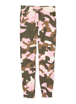 Girls 7-16 Camo Sweatpants - 3631063400082