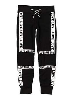Girls 7-16 Love Graphic Joggers - 3631063400086