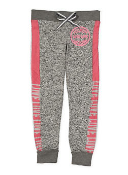 Girls 7-16 Two Tone Love Graphic Sweatpants - 3631063400090