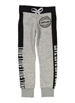 Girls 7-16 Love Graphic Sweatpants - 3631063400094