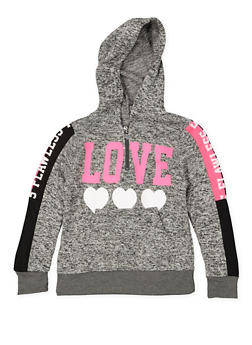 Girls 7-16 Love Graphic Knit Sweatshirt - 3631063400097