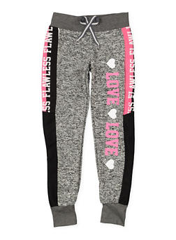 Girls 7-16 Graphic Knit Sweatpants - 3631063400098