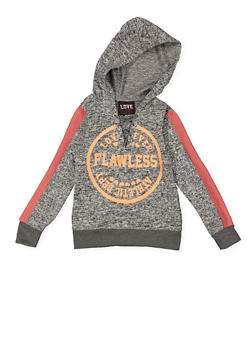 Girls 7-16 Flawless Graphic Knit Sweatshirt - 3631063400109