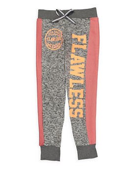 Girls 7-16 Knit Graphic Sweatpants - 3631063400110