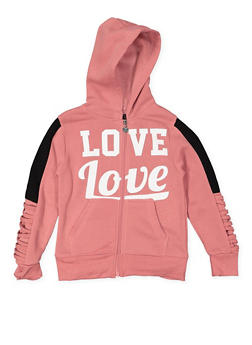 Girls 7-16 Love Graphic Hooded Sweatshirt - 3631063400117