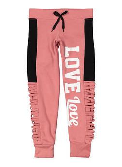 Girls 7-16 Love Graphic Sweatpants - 3631063400118