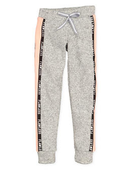 Girls 7-16 Flawless Graphic Tape Joggers - 3631063400150