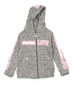 Girls 7-16 Love Graphic Hooded Sweatshirt - 3631063400159