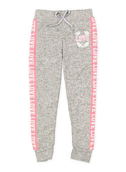 Girls 7-16 Love Graphic Joggers | 3631063400193 - 3631063400193
