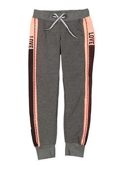 Girls 7-16 Love Graphic Joggers - 3631063400201