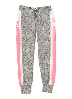 Girls 7-16 Love Graphic Joggers | 3631063400193 - 3631063400201