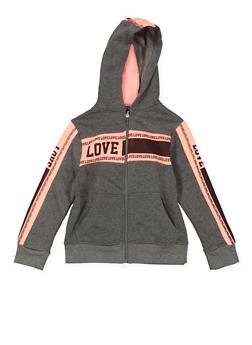 Girls 7-16 Graphic Color Block Sweatshirt - 3631063400202