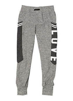 Girls 7-16 Love Graphic Activewear Sweatpants - 3631073270005