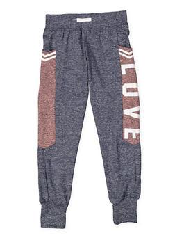 Girls 7-16 Love Graphic Activewear Sweatpants - 3631073270005