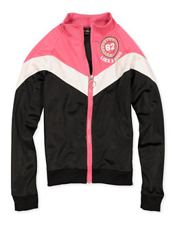 Girls 7-16 Graphic Color Block Track Jacket - 3631073990005