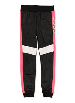 Girls 7-16 Glitter Boss Graphic Joggers - 3631073990006
