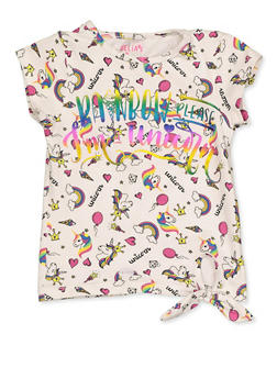 Girls 4-6x Graphic Printed Tee - 3634054730001