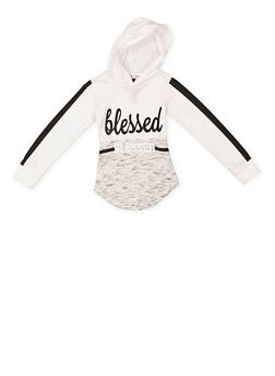 Girls 4-6x Blessed Graphic Hooded Top - 3634063400011