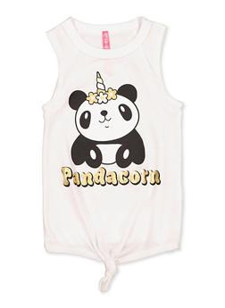 Girls 4-6x Pandacorn Graphic Tank Top - 3634066590138