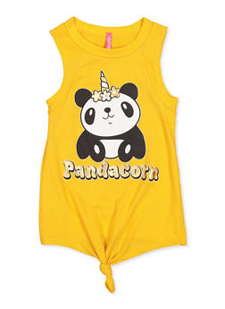 Girls 4-6x Pandacorn Graphic Tank Top - 3634066590138