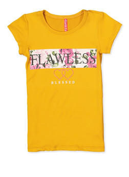 Girls 4-6x Flawless Blessed Graphic Tee - 3634066590140