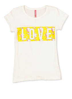Girls 4-6x Love Unicorn Graphic Tee - 3634066590141
