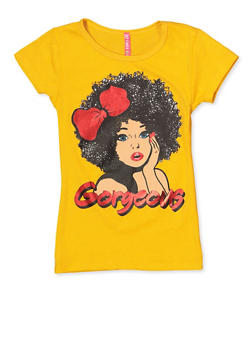Girls 4-6x Gorgeous Graphic Tee - 3634066590147