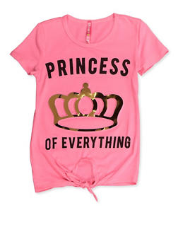 Girls 4-6x 3D Foil Princess Graphic Tee - 3634066590159