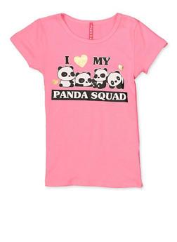 Girls 7-16 I Heart My Panda Squad Top - 3634066590168