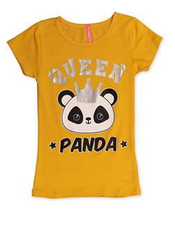 Girls 4-6x Queen Panda Tee - 3634066590169