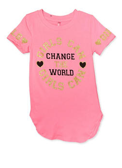 Girls 4-6x Girls Can Change the World Tee - 3634066590174