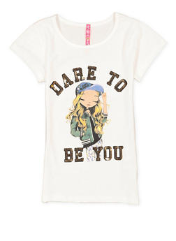 Girls 4-6x Sequin Graphic Tee - 3634066590305