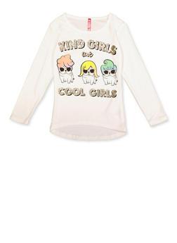 Girls 4-6x Kind Girls Are Cool Girls Tee - 3634066590350